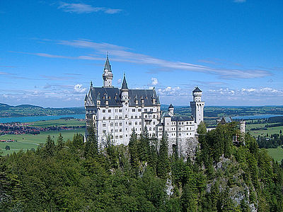 view on castle Neuschwanstein in Allgäu