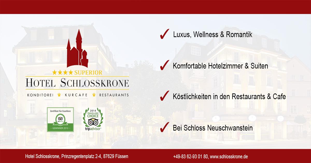 Hotel Schlosskrone In Füssen Im Allgäu